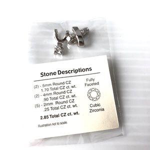 CZ Pendants 🌺3/$20 & Bonus Earrings